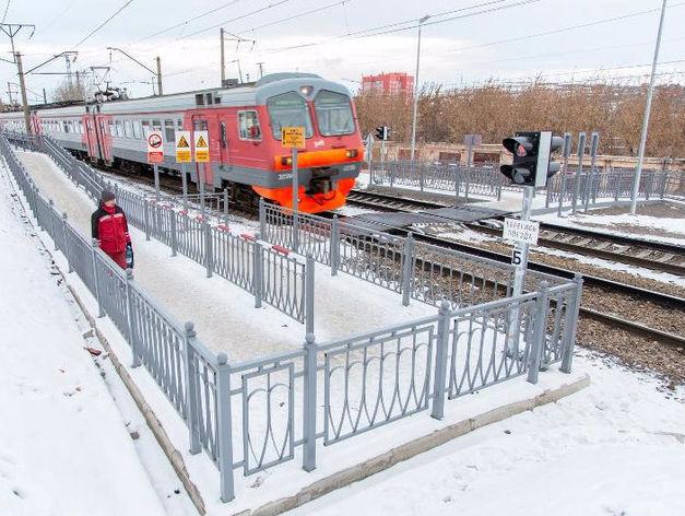 Красноярская ЖД закончила строительство пешеходного перехода через Транссиб