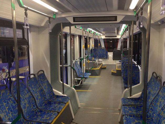 Красноярские предприятия создали интерьер для московского трамвая