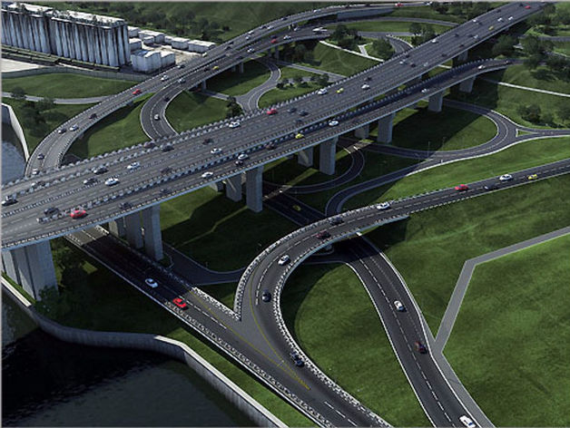 Съезд с четвертого моста в Красноярске построит УСК «Сибиряк»