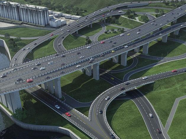 Подписан контракт на строительство съезда с четвертого моста в Красноярске