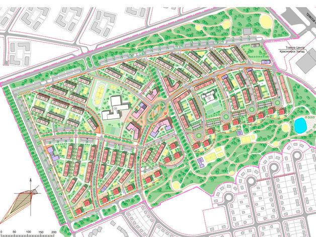 Новый эко-район вблизи Красноярска совместит социальное жилье, премиум-класс и парки