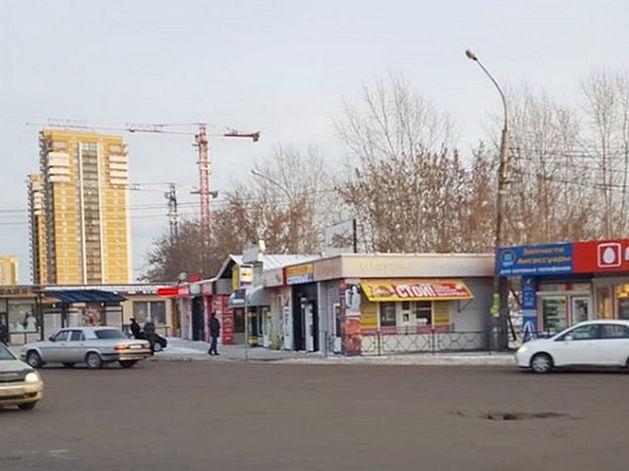 Началась зачистка автовокзала Красноярска от ларьков и павильонов