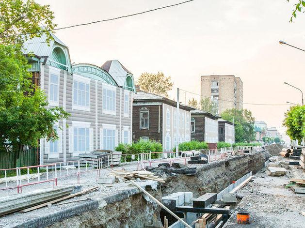 Шесть домов «Исторического квартала» в Красноярске увезли с ул. Горького