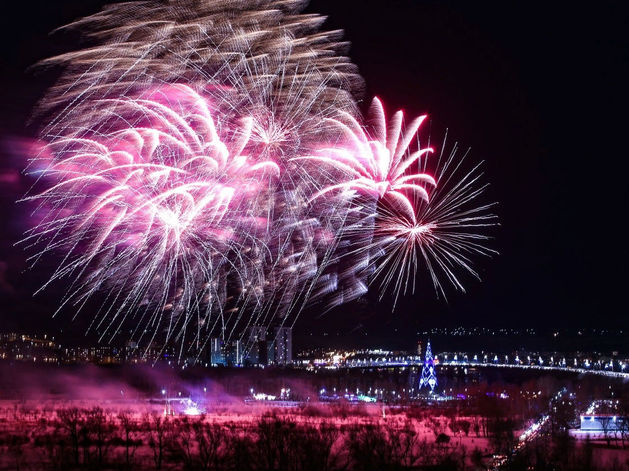 В Рождество в Красноярске запустят праздничный фейерверк