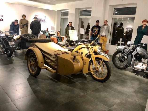 На бывшей площадке «Года живописи» в Красноярске открылась выставка раритетных мотоциклов