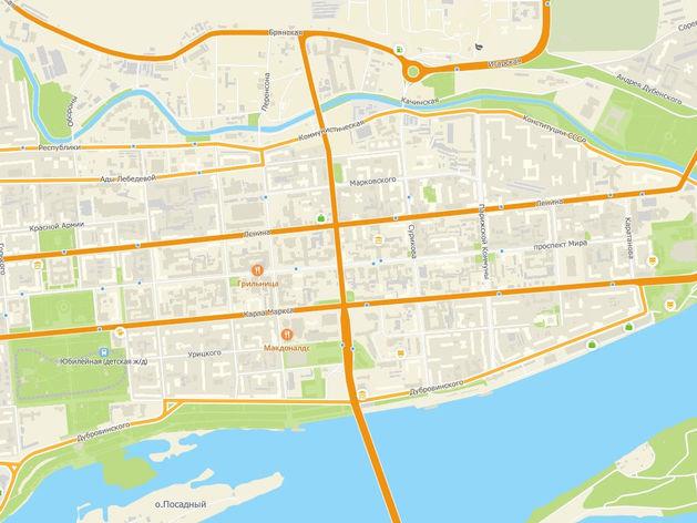 В центре Красноярска изменят схему движения на одном из наиболее загруженных перекрестков