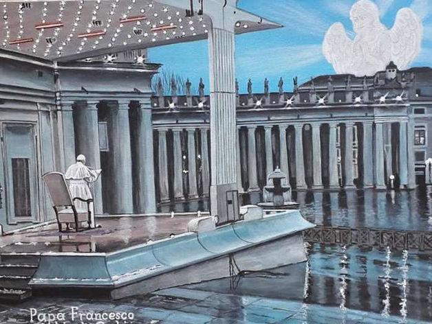Красноярские «Ангелы Мира» написали картину для папы Римского