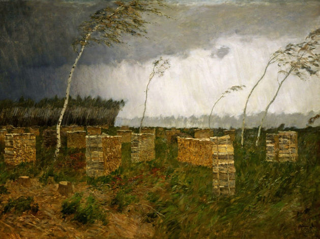 Иссак Левитан. Буря. Дождь. 1899