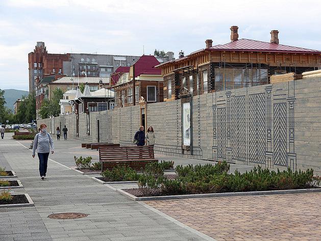 Мэрия Красноярска ищет подрядчика для благоустройства пешеходной зоны на Горького