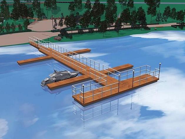 На острове Татышев приступили к строительству причала