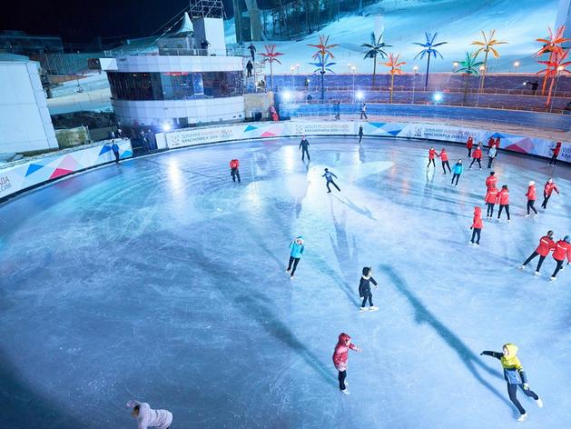 Красноярцы могут открыть зимний сезон на ледовом катке фанпарка «Бобровый лог»
