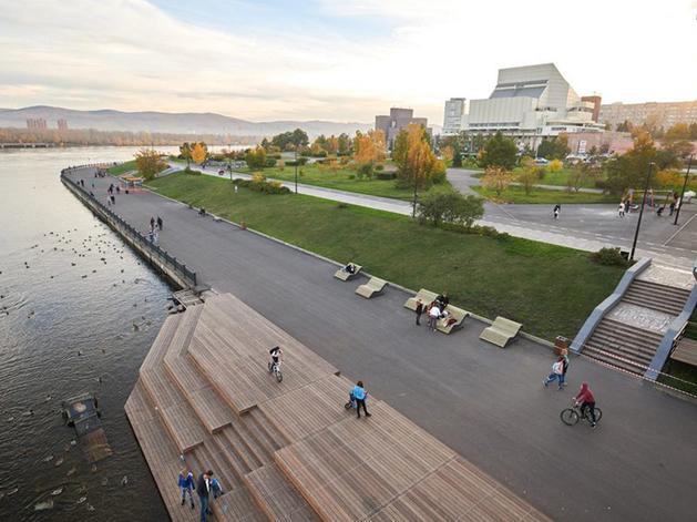 Наводнение в Красноярске: набережные выдержали