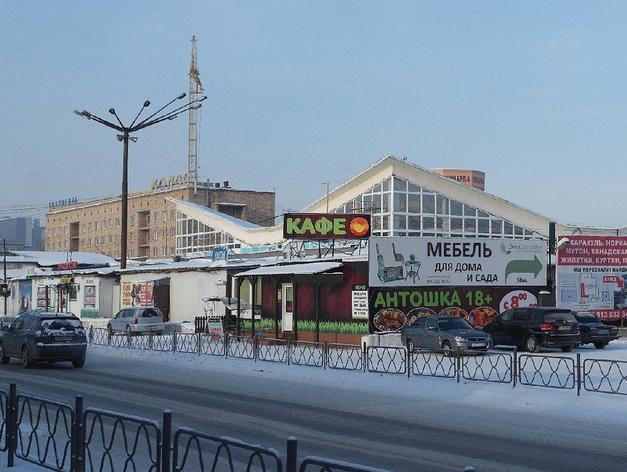У Центрального рынка снесли все павильоны